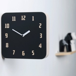 Morden Retro Wood Double Clock (Black&Red)