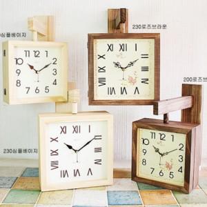 뷰티풀트리내츄럴양면시계 [4 type 선택 가능]